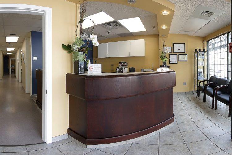 Office reception Norburn Dental Centre dentist burnaby